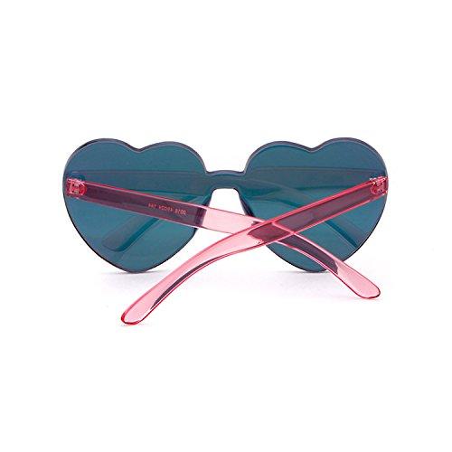 A Ragazze Da Forma Per Barbie Adewu Sole Montatura Occhiali Di Cuore Pink Senza Nnm0wvO8
