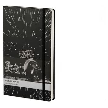 Moleskine Star Wars Limited Edition Notebook, Large, Ruled, Black, Hard Cover (5 x 8.25)