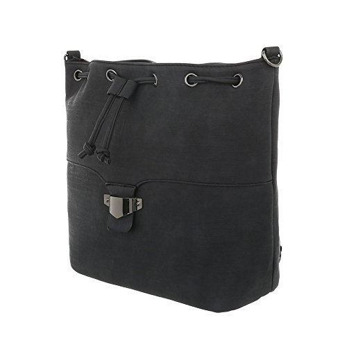 Ital Sac femme à l'épaule porter pour Design Noir à qTS7WqZ