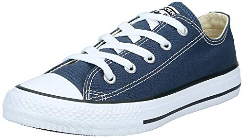Converse Kids' Chuck Taylor All Star Canvas Low Top Sneaker, Navy, 1.5 M US Little Kid