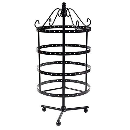 TYewa98556 144 Holes Metal Jewelry Rack Necklace Holder Organizer Rotary Display Stand - Black from TYewa98556