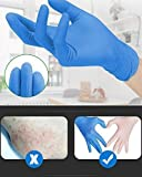 WowTowel 100pcs Disposable Nitrile Gloves Exam