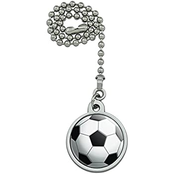 Soccer Ball Football Ceiling Fan And Light Pull Chain Amazon Com