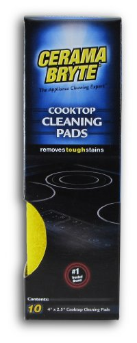Price comparison product image Cerama Bryte Glass-Ceramic Cooktop Cleaning Pads for Stubborn Stains, 10 Count