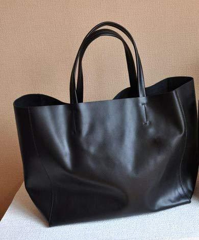 5b0d1ff11869 Amazon.com  6 Color Women Leather Handbag Famous Brand Europe Luxury Real  Leather Lady Fashion Shoulder Bags Shopper Tote Color black L 52cm  Shoes