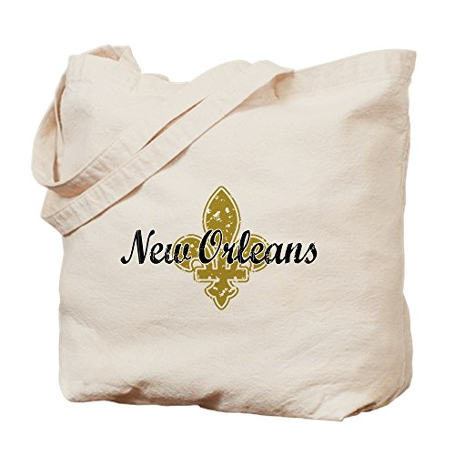 CafePress New Orleans Natural Canvas Tote Bag, Cloth Shopping Bag