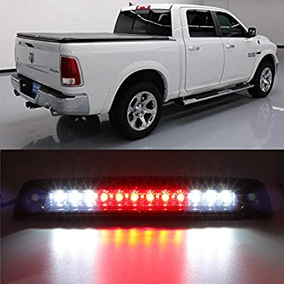 High Mount Dual Row LED 3rd Brake/Cargo Light Fit for 1994-2001 Dodge Ram (Black Housing Smoke Lens): Automotive