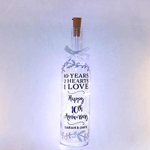 Personalised 10th Wedding Anniversary Gifts 10 Years Of Marriage