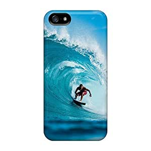 Back Cases Covers For Iphone 5/5s - Surfing In Teahupoo Tahiti