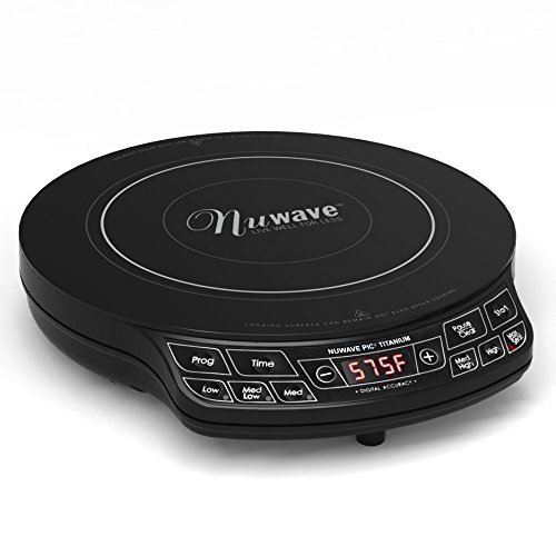 Cooktop Premium Induction Nuwave Portable Smooth Surface Single Kitchen Cookware in Titanium Black
