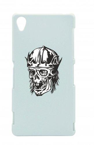"""Smartphone Case Apple IPhone 7 """"Alter Totenkopf mit Haare fehlen Zähne Krone Totenschädel Skelett Rocker Motorradclub Gothic Biker Skull Emo Old School"""" Spass- Kult- Motiv Geschenkidee Ostern Weihnach"""