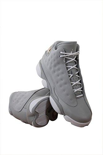 sneakers for cheap 642eb 42f5b ... new style jordan air retro 13 gg wolf grau lifestyle freizeitschuhe wolf  grau weiß tödliches rosa