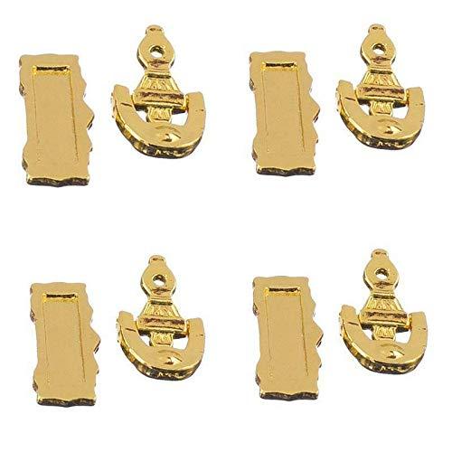 Dolphin Design Door Knocker - NATFUR 4X Dolls House Letter Slot Knocker Accessories for The Front Door 1:12 Scale