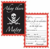 Pirate Invitations (envelopes included) Party Accessory  (1 count) (8/Pkg), Health Care Stuffs