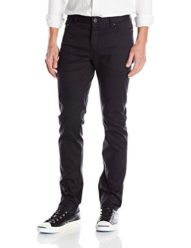 (John Varvatos Collection Men's Slim Fit Jeans, Black, 40 Regular)