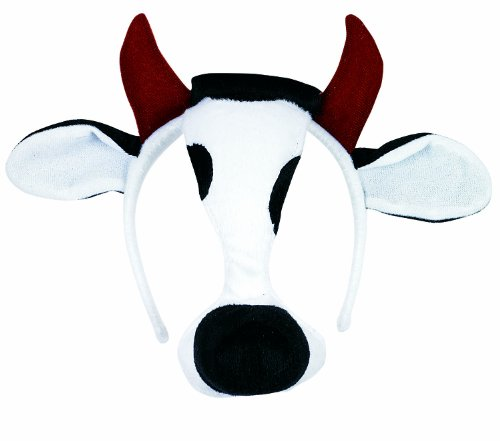 [Small World Toys Furree Faces - Cow Mask w/sound] (Kids Cow Nose)