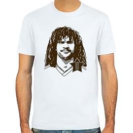 SpielRaum T-shirt Ruud Gullit ::: Couleur: bleu ciel, sable ou blanc ::: Tailles: S-XXL (football)