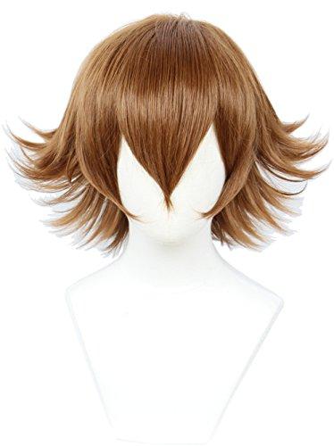 Linfairy Unisex Short Straight Cosplay Wig Halloween Costume Full Wig for Women
