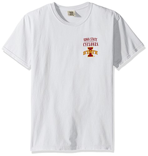 NCAA Iowa State Cyclones Adult Unisex NCAA Limited Edition Comfort Color Short sleeve T-Shirt,Large,White