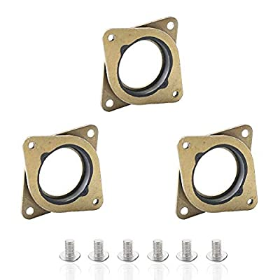 Houkr NEMA 17 Stepper Steel Motor Damper and Rubber Vibration Damper with M3 Screw for Creality CR-10, 10S 3D Printer, CNC Router (3 Pack)