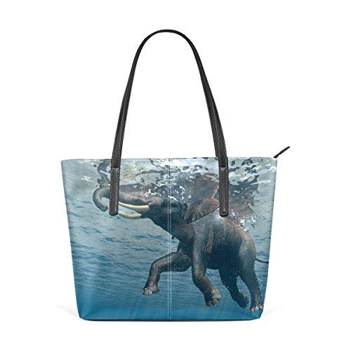 COOSUN Elefant PU Leder Schultertasche Handtasche und Handtaschen Tasche für Frauen mvwcgTMio