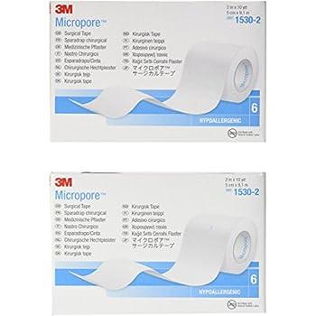 2 X Medical Tape MicroporeTM Paper 2 Inch X 10 Yards, 6 Per Box
