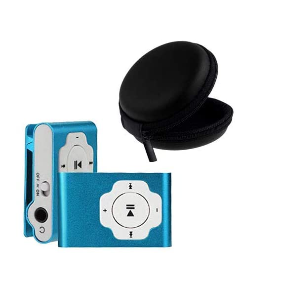 King Shine Portable Digital Mp3 Music Song Player and Earphone, USB Cable-Multicolor- (with Multi Purpose Pocket Storage