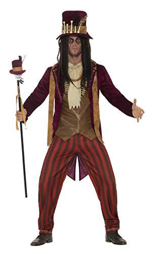 (Smiffys Men's Deluxe Voodoo Witch Doctor Costume, Red,)