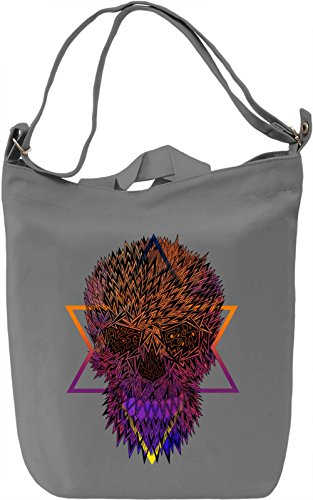 Death Skull Borsa Giornaliera Canvas Canvas Day Bag| 100% Premium Cotton Canvas| DTG Printing|