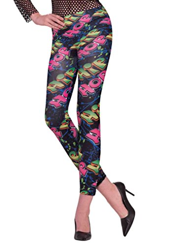 Forum Novelties Women's Hip Hop Novelty Graphic Leggings, Multi, X-Small/Small
