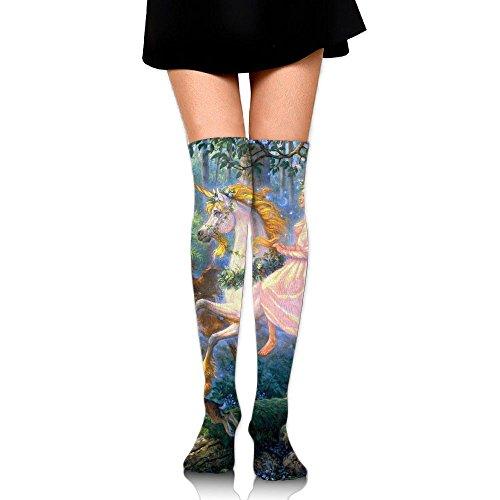 Christmas Wish Unisex 1 Pair Over Knee Socks 65CM 3D Cartoon Printed Cosplay Knee High Socks Plain Stretch Lightweight Ribbed Casual Stockings Fit All Season (Meme Early Lights Christmas)