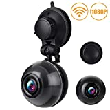 WiFi Dash Cam FHD 1080P Car Dashboard Camera 140 Degree Wide Angle Car DVR with Motion Detection,Super Night Vision,Loop Recording,iOS &Android APP, up to 64GB