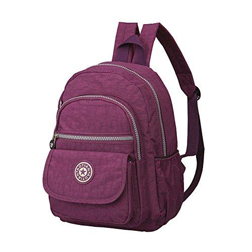 etbotu Frauen Rucksack, wasserdicht Rucksack groß Kapazität gewaschen Tuch einfach Casual Reisetasche violett Violett