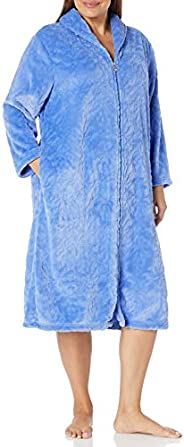 Karen Neuburger Womens Plush Soft Warm Fleece Bathrobe Robe Pajama Pj Bathrobe