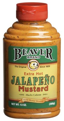 Beaver Jalapeno Mustard, 13 oz
