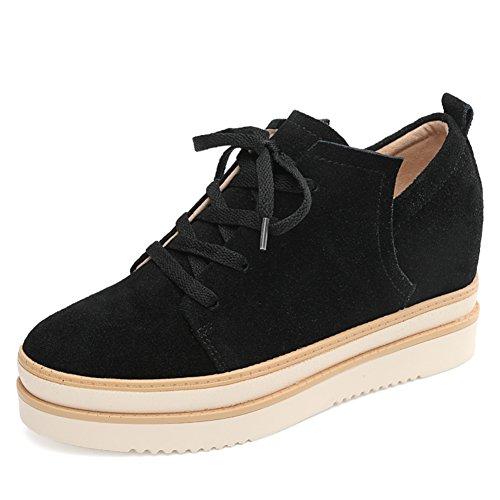 De Femme Cuir Au A En vent Angleterre Plate Chaussures Occasionnelles Hautes chaussures forme Printemps qzPT1Z