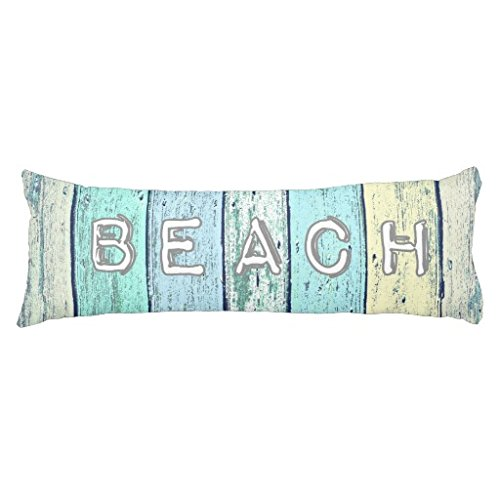 20 x 54 Pillow Case Driftwood Blue Body Pillow Sham for Bed for Sofa One Side Printing