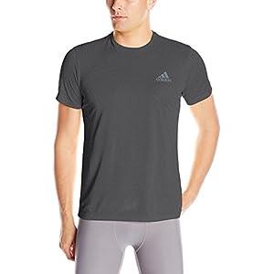 adidas Men's Training Essentials Tech Tee, Dark Grey Heather, Medium