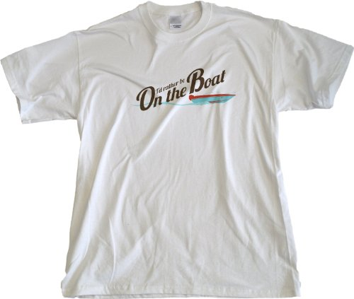 Ann Arbor T-Shirt Co. Men's I'D Rather Be On The Boat T-Shirt