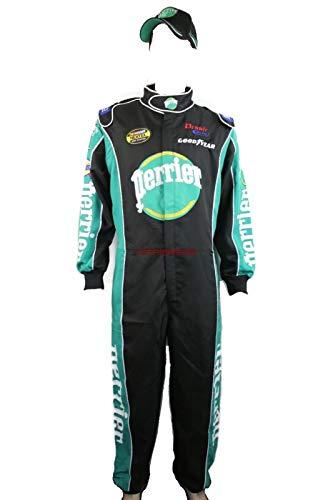 Jean Girard W/Cap NASCAR Jumpsuit Costume Talladega Nights Perrier (2XL)