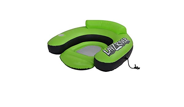 Amazon.com : Lay-Z-Río Río Flotador inflable Salón, Verde / Negro : Sports & Outdoors