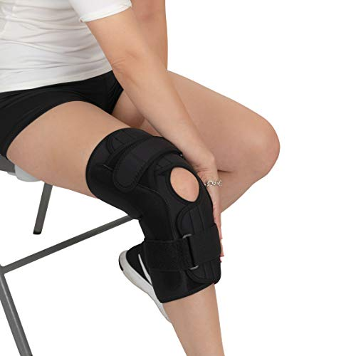 Bariatric Open Patella Plus Size Hinged Knee Brace for Men and Women - Supports Meniscus Tears, Arthritis Joint Pain, Ligament Injuries & Sprains - (Brace Front Closure)