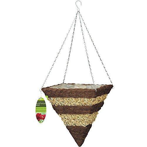 Gardman R374 Brushwood And White Rattan Square Cone Hanging Basket  14