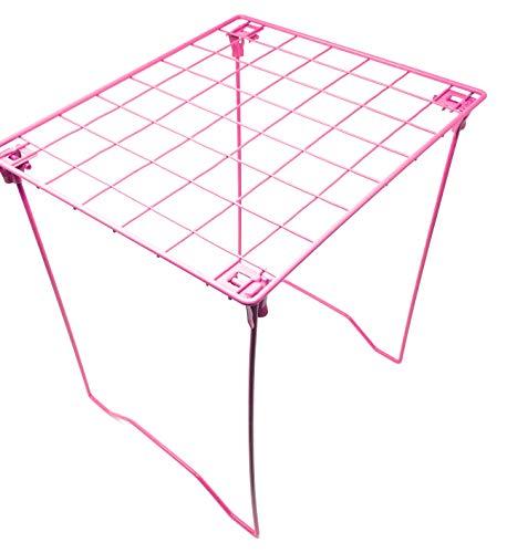 Hot Pink Locker Shelf - Foldable Stac Mate Shelf for Office, Home or School by Locker Room