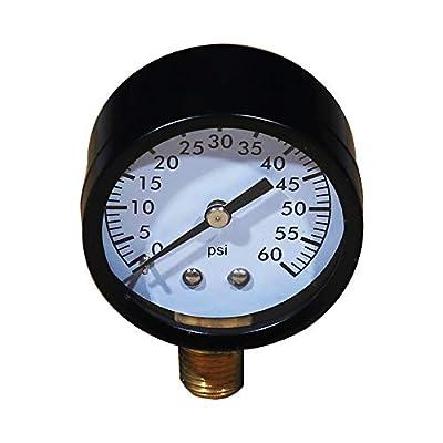 YHAK Pool Filter Pressure Gauge 0-60 Psi, 2