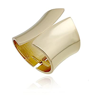 Kaymen Gold Plated Alloy Great Polished Fashion Statement Chunky Bangles
