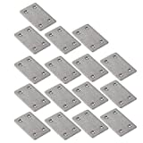 WEBI Heavy Duty Stainless Steel Corner Braces, Joint Fastener, Shelf Support for Wood Furniture, Chests, Screens, Windows, Brushed Finish,16 Pcs,ZJM-60X38