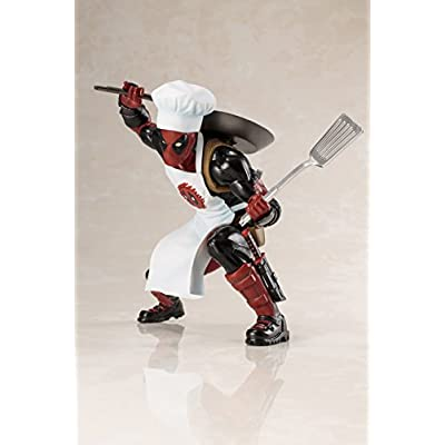 Entertainment Earth Marvel Universe Cooking Deadpool Artfx+ Statue: Kotobukiya: Toys & Games