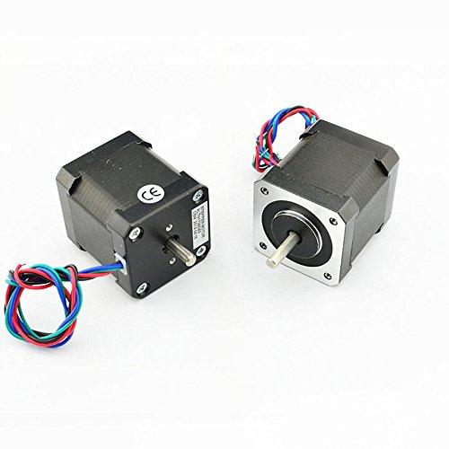 NEMA17 Dual Shaft 2A/83oz-in Bipolar Stepper Motor by OSM