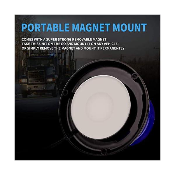 Luz de advertencia 12V LED Baliza Luces magnética Impermeable advertencia de emergencia para vehículo automotor Camión remolque Recargable 3